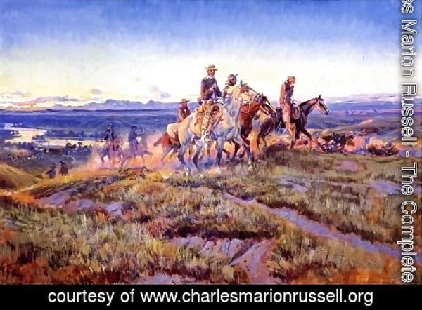 Charles Marion Russell - Men of the Open Range