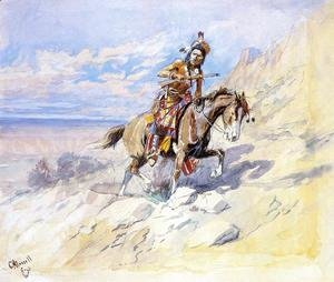 Charles Marion Russell - Indian on Horseback