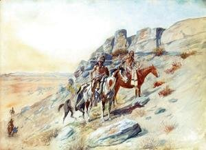 Charles Marion Russell - Sighting the Enemy