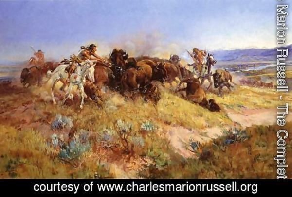Charles Marion Russell - Buffalo Hunt No.40