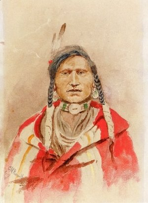 Charles Marion Russell - Portrait of an Indian