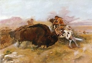 Charles Marion Russell - Meat for the Tribe