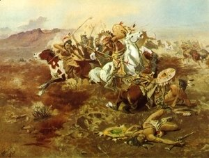 Charles Marion Russell - Indian Fight, #1