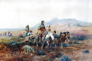 Charles Marion Russell - When the Trail Was Long Between Camps