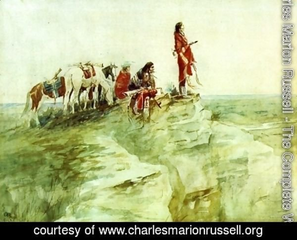 Charles Marion Russell - Medicine Rock I