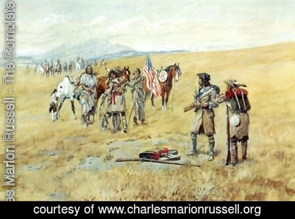 Charles Marion Russell - Captain Lewis Meeting the Shoshones I
