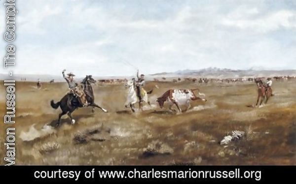 Charles Marion Russell - Branding Cattle