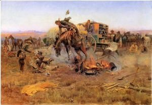 Charles Marion Russell - Camp Cook's Troubles