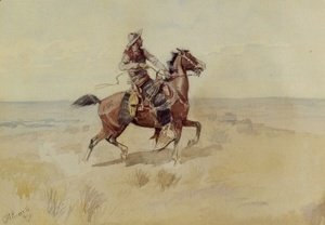 Charles Marion Russell - Cowboy On The Range