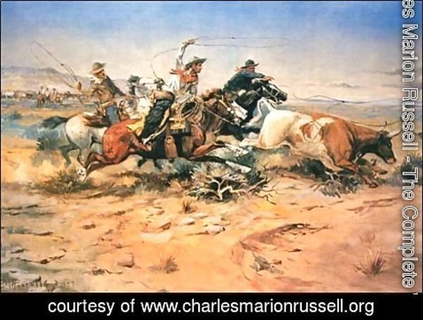 Charles Marion Russell - Herd Quitters