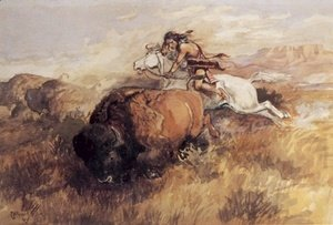 Charles Marion Russell - Indian On White Horse