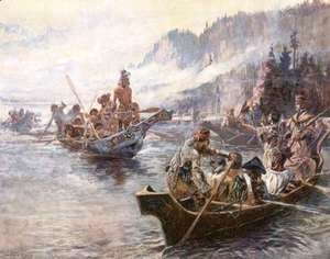 Charles Marion Russell - Lewis and Clark on the Lower Columbia