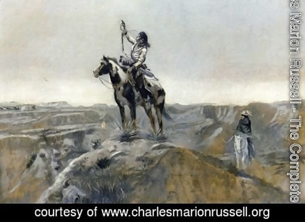 Charles Marion Russell - WAR (also known as Indian Telegraphing)