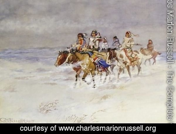Charles Marion Russell - War Party In Winter
