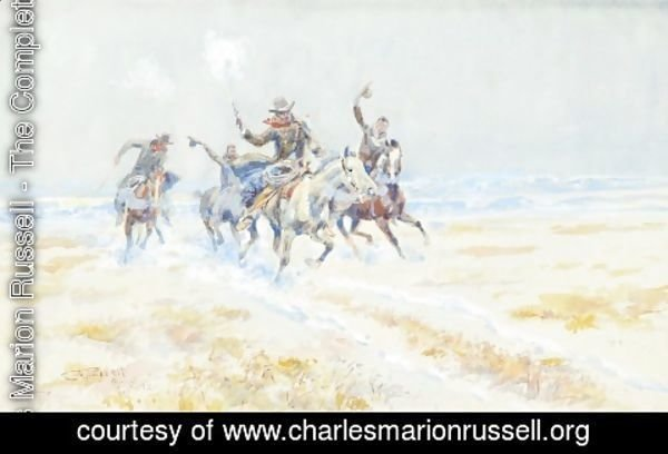 Charles Marion Russell - Cowboys on the Plains