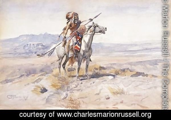 Charles Marion Russell - Indian on Horseback 2