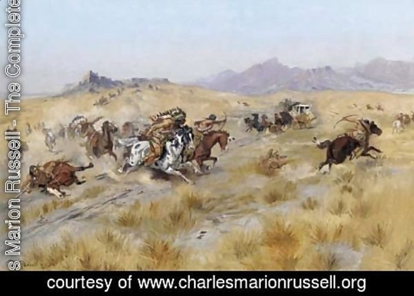 Charles Marion Russell - The Attack 2