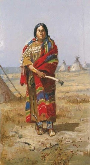 Charles Marion Russell - Indian Squaw